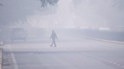 Milijonai Indijos sostinės gyventojų kenčia nuo akis graužiančio smogo