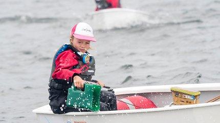 """Talentingi vaikai. 10-metė buriuotoja Liepa: """"Ką darau, kai bijau? Verkiu, bet po to nusiraminu ir pradedu ramiai plaukti"""""""