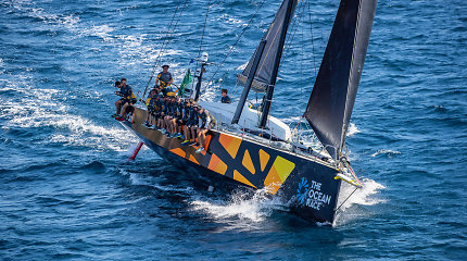 """""""Ambersail2"""" įgula apie pirmuosius lenktynių Porto Červo rezultatus: """"Ant kranto esame žvaigždės"""""""