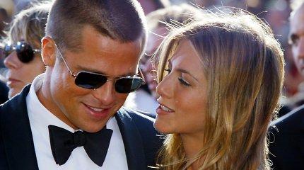 Jennifer Aniston ir Bradas Pittas anksčiau ir dabar