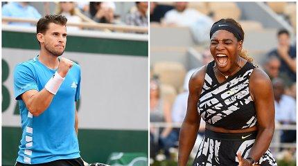 Ypatingas gestas: Dominicas Thiemas pasiūlė susitaikyti Serenai Williams