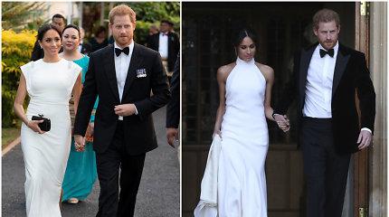 Princas Harry ir Meghan Markle su Tongos karaliumi susitiko apsirengę lyg vėl būtų jaunavedžiai