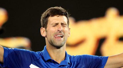 """Nepadoriai lengvai – N.Džokovičius sutriuškino prancūzą ir žais """"Australian Open"""" finale"""