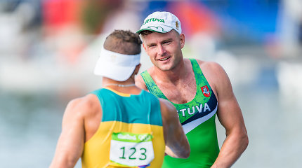 R.Nekriošius ir A.Olijnikas nuo pasaulio taurės etapo bronzos atsiliko puse sekundės