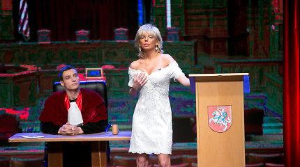 Aktorė Vaida Lisikaitė parodijų šou tapo advokate Svetlana Pronina: scenoje užkūrė tikrą pirtį