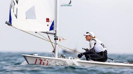Olimpiniuose Japonijos vandenyse – Viktorijos Andrulytės startas Pasaulio taurėje