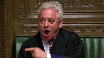 J.Bercow pasitraukė iš JK Bendruomenių Rūmų pirmininko posto