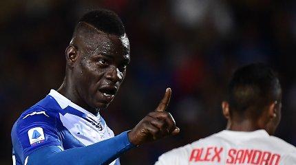 """M.Balotelli įvartį namie pelnė po 4 metų pertraukos, laimėjo """"Napoli"""" ir """"AS Roma"""""""