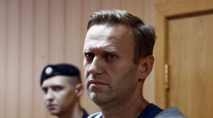 """Rusijos opozicijos lyderiui A.Navalnui gresiabaudžiamieji kaltinimai """"šmeižtu"""""""