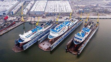 """Naujame VLG doke atnaujinti pirmieji """"Panamax"""" laivai"""