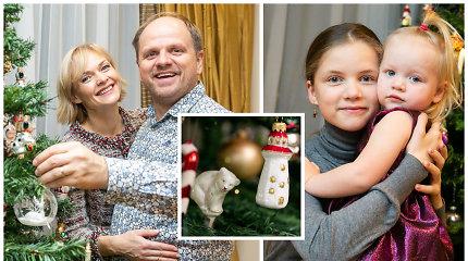 Kalėdos Kristinos Zmailaitės ir Edmundo Seiliaus namuose: ant eglutės – 50 metų senumo žaisliukai