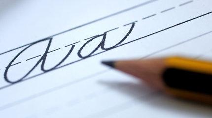 Galvosūkis: milijonus kartų matyta raidė, kurios nemokame rašyti