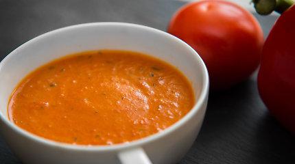 Ryškios ir skanios: šiltos bei šaltos pomidorų sriubos