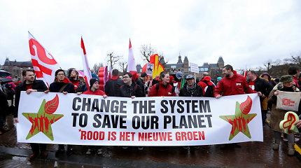 Amsterdame eitynėse už kovą su klimato kaita dalyvavo 40 tūkst. žmonių