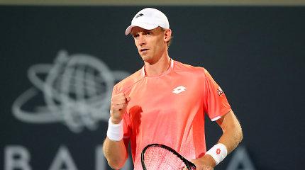 Teniso milžinų dvikovą ATP turnyro Indijoje finale laimėjo Kevinas Andersonas