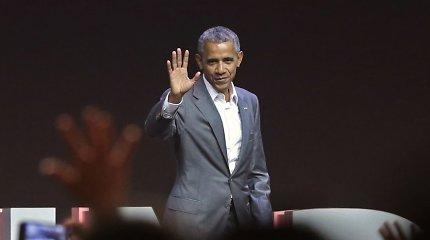 Po dvejų masinių šaudynių JAV B.Obama smerkia baimės klimatą palaikančius lyderius