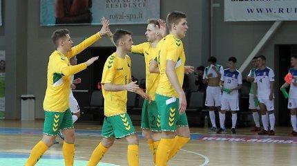 Lietuvos salės futbolo rinktinė dėl vietos Europos čempionate kausis namie