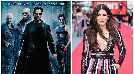 """""""Matrica"""" galėjo būti visai kitokia: prieš Keanu Reevesą vaidmuo buvo siūlomas Sandrai Bullock"""