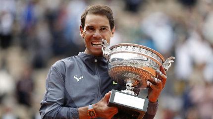 """Tuzinas: savo paties rekordą pagerinęs Rafaelis Nadalis – """"Roland Garros"""" čempionas"""
