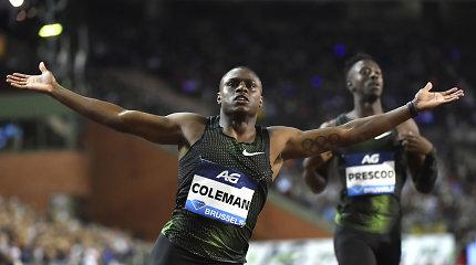 """Ch.Colemanas: """"Ar šiuo metu esu sprinto karalius? Spėju, kad taip"""""""