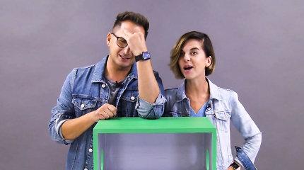 """""""Atspėk, kas dėžėje"""": Orijus Gasanovas ir Simona Bandita pakraupo išgirdę žaidimo taisykles"""