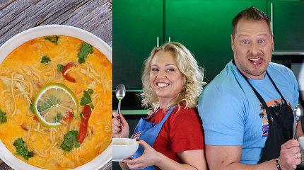 """Laidoje """"Tarasovai virtuvėje"""" – Viliaus mėgstamiausia tailandietiška sriuba"""