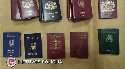 Vilniuje buvo itin profesionaliai klastojami įvairūs Europos šalių dokumentai