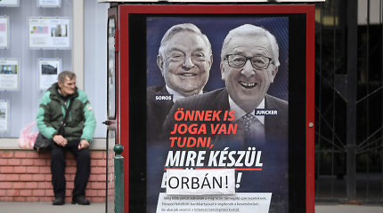 Vengrija žada užbaigti savoinformacinę kampaniją prieš G.Sorosą ir J.-C.Junckerį