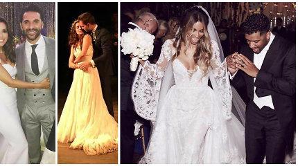 Išrinkite įspūdingiausias pasaulio garsenybių vestuves 2016-aisiais