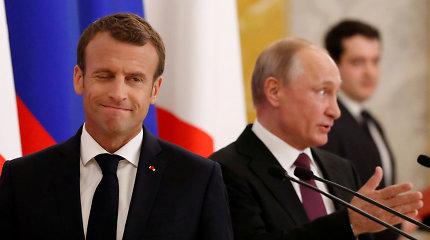 Kremlius: E.Macronas priėmė V.Putino kvietimą 2020-aisiais apsilankyti Maskvoje