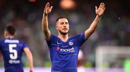 """Į """"karališkąjį"""" klubą išvykstantis E.Hazardas jausmingai atsisveikino su """"Chelsea"""""""