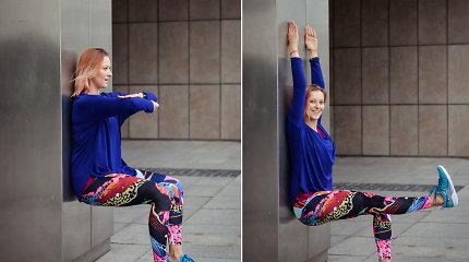 Trenerė A.Girniūtė pataria: kaip nesunkiai sustiprinti kojas ir sėdmenis?