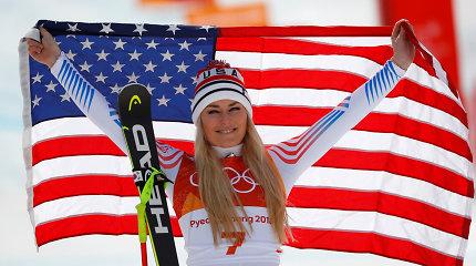 Traumų iškankinta kalnų slidinėjimo žvaigždė Lindsey Vonn deda tašką karjeroje