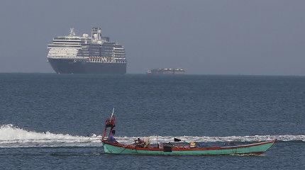 Dėl koronaviruso baimės į Azijos uostus neįleistas JAV kruizinis laivas atvyko į Kambodžą