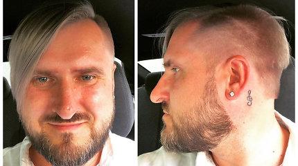 """Gediminas Jaunius vėl ryžosi išvaizdos pokyčiams: """"Nauja pradžia, nauja šukuosena"""""""