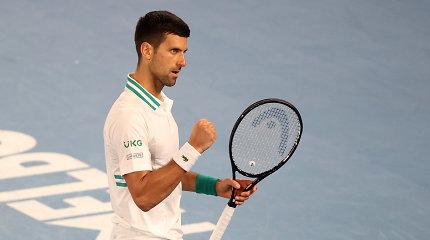 """Skausmo šmėklą įveikęs N.Džokovičius – """"Australian Open"""" ketvirtfinalyje"""