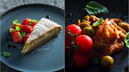 """Duetas savaitgaliui – menkė pomidorų """"jūroje"""" ir pyragas-staigmena"""