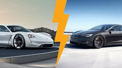 """Kodėl """"Porsche"""" nenori būti lyginama su """"Tesla"""" ir ar bus pagamintas elektrinis 911?"""