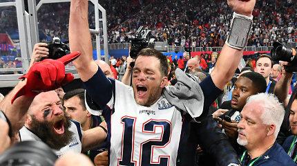 """Svarbiausiame JAV sporto renginyje """"Super Bowl"""" – istorinis T.Brady ir """"Patriots"""" triumfas"""