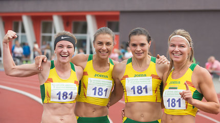 Vilniaus stadione – rekordas ir estafetės komandos triumfo šokis