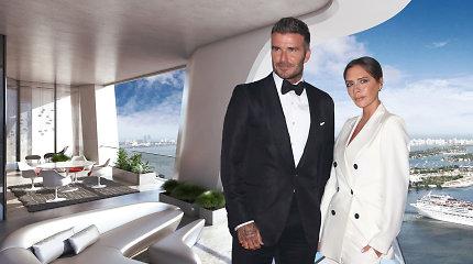 Nauji Beckhamų namai Majamyje – prabangiame dangoraižyje su baseinu ir sraigtasparnių aikštele