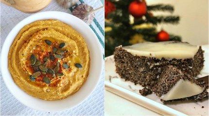 auGalingas pirmadienis: moliūgų humusas su kariu ir aguoninis pyragas