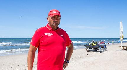 """Palangos gelbėtojų vadas J.Pirožnikas: """"Kartais žmonės sako: duok kvailiui kelią. Aš neduodu"""""""
