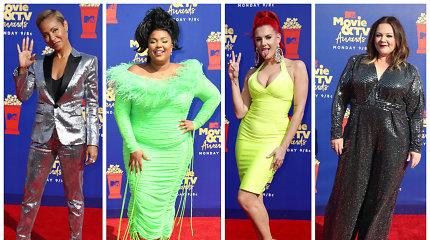 MTV kino ir televizijos apdovanojimų raudoną kilimą užtvindė ryškios garsenybės: įvertinkite jų stilių