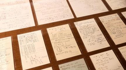 """Pagaliau rastas Einsteino """"galvosūkį"""" įminęs jo rankraščio puslapis"""