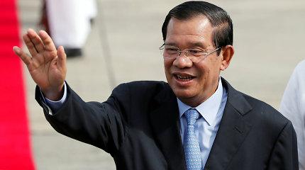 Kambodžos lyderis žada apsilankyti Uhane