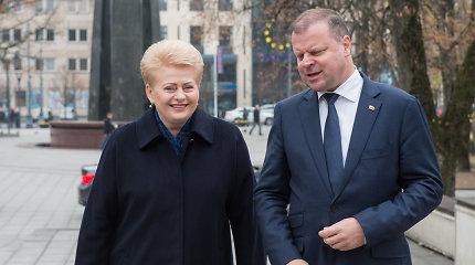 Sveikindama Vyriausybę su 100-mečiu D.Grybauskaitė linkėjo pažiūrėti į save iš šono