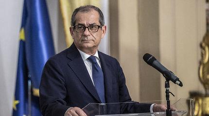 """Italija """"nėra problema"""" Europos Sąjungai, sako finansų ministras"""