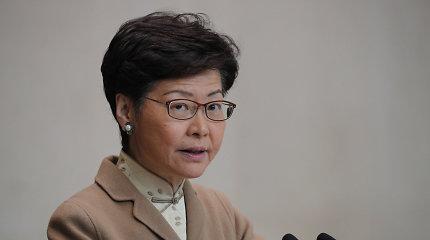 Honkongo lyderė Carrie Lam žada iššūkių kupinus metus