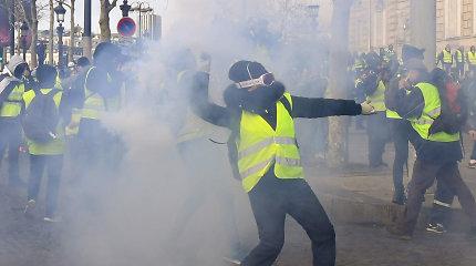 Kremlius šmeižtu vadina pareiškimus, kad Rusija prisidėjusi prie protestų Prancūzijoje